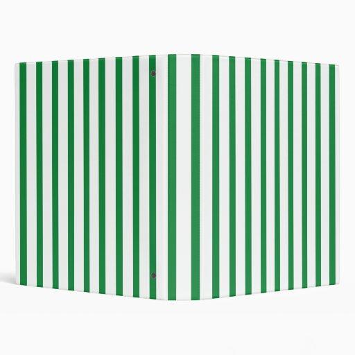 """Rayas verdes y blancas carpeta 1"""""""