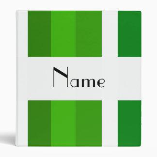 """Rayas verdes y blancas conocidas personalizadas carpeta 1"""""""