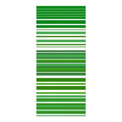 Rayas verdes y blancas modernas lona publicitaria