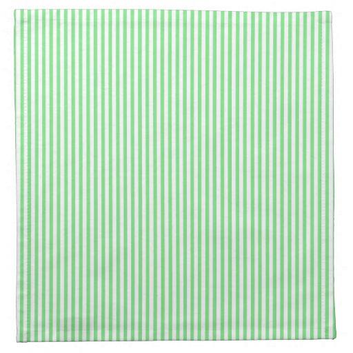 Rayas verdes y blancas servilletas