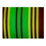 Rayas verdes y marrones tarjeta postal
