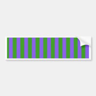 Rayas verdes y púrpuras pegatina para auto