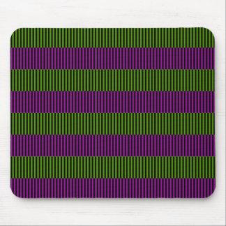 Rayas verdes y púrpuras tapete de ratón
