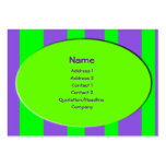 rayas verdes y púrpuras tarjetas de visita