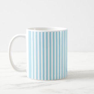 Rayas verticales azules de la foto taza clásica