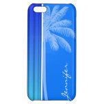 Rayas verticales azules eléctricas; Rayado; Palma