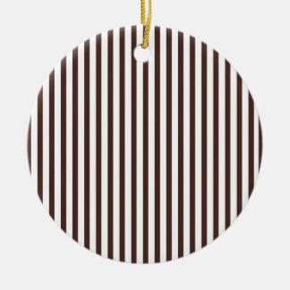 Rayas verticales de Brown Adorno De Navidad