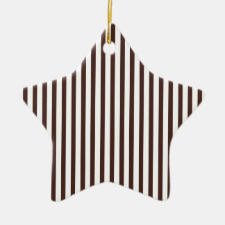 Rayas verticales de Brown Ornamentos De Navidad