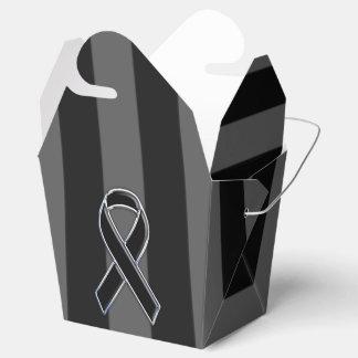 Rayas verticales de la conciencia negra elegante caja para regalos de fiestas