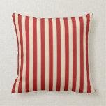 Rayas verticales de la obra clásica de las palomit almohada