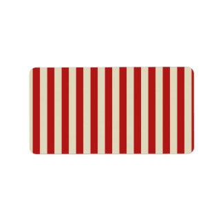 Rayas verticales de la obra clásica de las palomit etiqueta de dirección