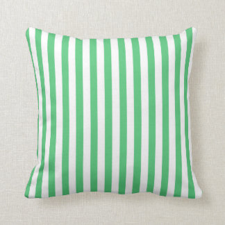Rayas verticales del verde esmeralda; Rayado Cojin