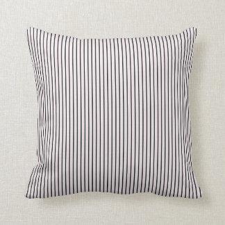 Rayas verticales del vintage - personalizar almohada