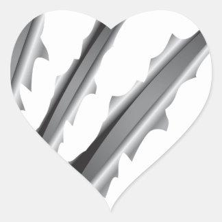 Rayas verticales pegatina en forma de corazón