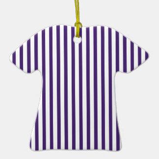 Rayas verticales púrpuras ornamento para reyes magos