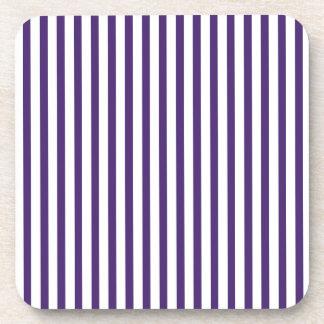 Rayas verticales púrpuras posavasos de bebida