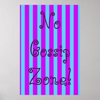 Rayas verticales púrpuras y azules de ninguna zona póster