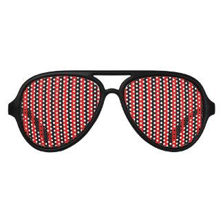 Rayas verticales rojas y negras gafas de sol