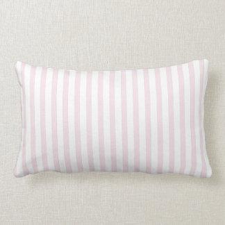 Rayas verticales rosadas almohada