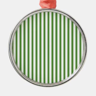 Rayas verticales verdes adornos de navidad