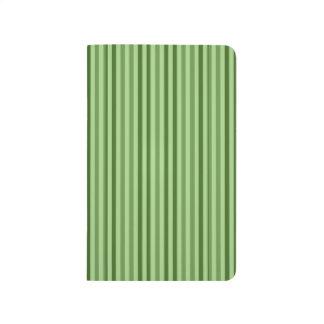 Rayas verticales verdes elegantes cuadernos