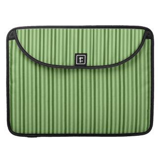 Rayas verticales verdes elegantes funda para macbook pro