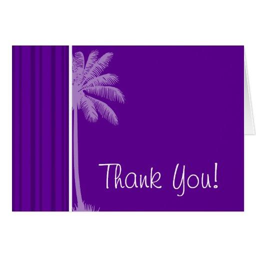 Rayas verticales violetas oscuras; Palma Tarjeta Pequeña