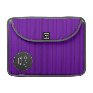 Rayas verticales violetas oscuras; Pizarra Fundas Para Macbooks