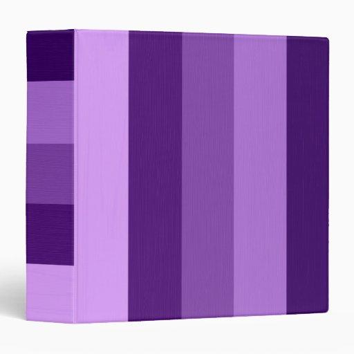 """Rayas violetas personalizadas personalizado 2 de carpeta 1 1/2"""""""