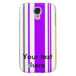 Rayas violetas y blancas amarillas contemporáneas