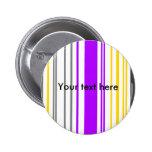 Rayas violetas y blancas amarillas contemporáneas pin