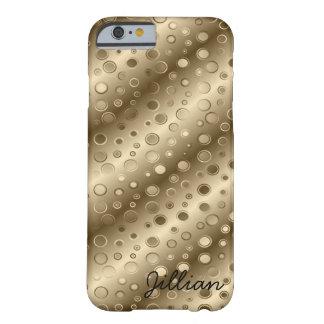 Rayas y burbujas diagonales del oro funda barely there iPhone 6