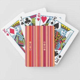 Rayas y cajas modernas de la granada barajas de cartas