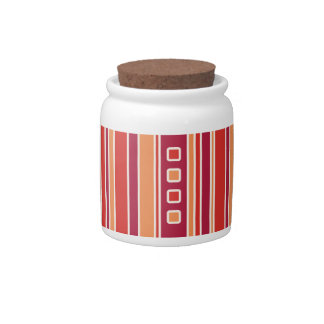 Rayas y cajas modernas de la granada platos para caramelos