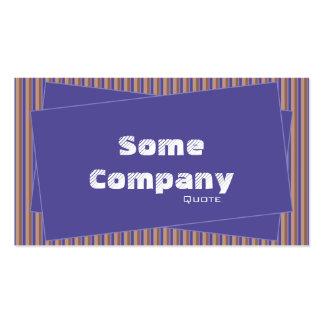Rayas y colección de los pedazos (azul) plantilla de tarjeta de negocio