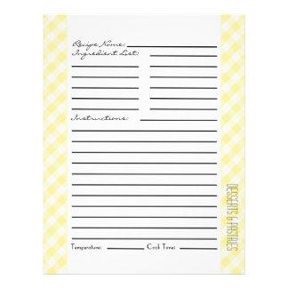 """Rayas y controles amarillos y verdes folleto 8.5"""" x 11"""""""