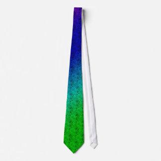 Rayas y corbata diagonales coloridas de las flores