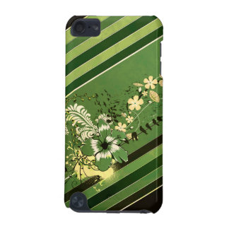 Rayas y floral verdes funda para iPod touch 5G