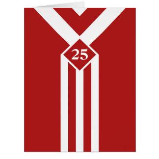 Rayas y galones blancos de encargo en rojo tarjeta de felicitación grande