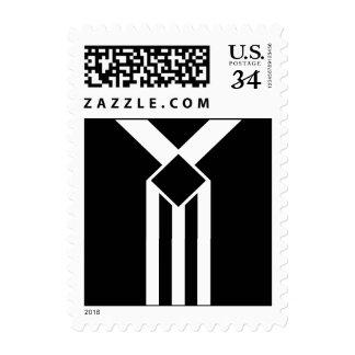 Rayas y galones blancos en el negro - pequeño timbres postales