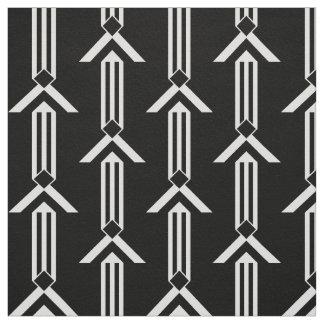 Rayas y galones blancos verticales en negro telas