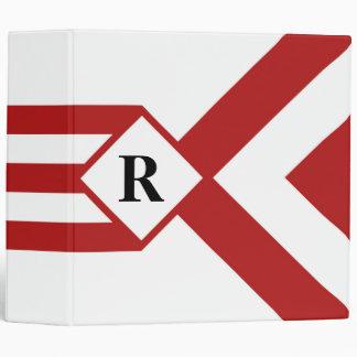"""Rayas y galones rojos con el monograma en blanco carpeta 2"""""""