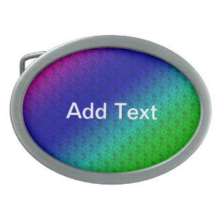 Rayas y hebilla del cinturón diagonales coloridas hebilla de cinturón oval