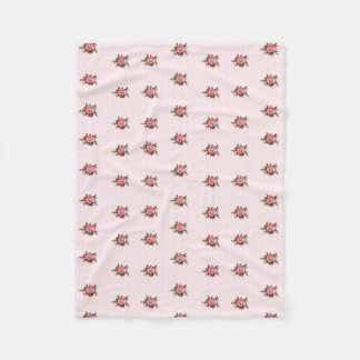 Rayas y manta rosadas del paño grueso y suave de manta de forro polar