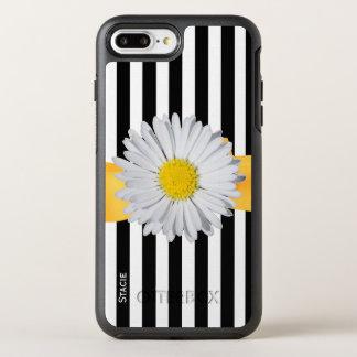 Rayas y margarita funda OtterBox symmetry para iPhone 7 plus