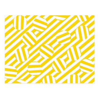Rayas y modelo amarillos de los círculos postal
