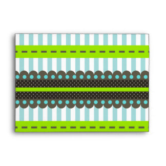 Rayas y modelo de puntos verdes, azules, de Brown  Sobre