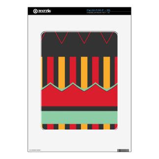 Rayas y ondas en colores retros skins para eliPad