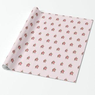 Rayas y papel de embalaje rosados bonitos de los