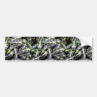 Rayas y planta ornamental brillante de las gotitas pegatina para auto
